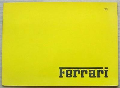 FERRARI Factory Press Media Pack Photos 1986 #447/86 TESTAROSSA 328GTS MONDIAL
