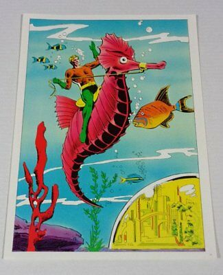 Rare vintage original 1978 DC Comics Aquaman comic book pin-up poster:JLA/1970's