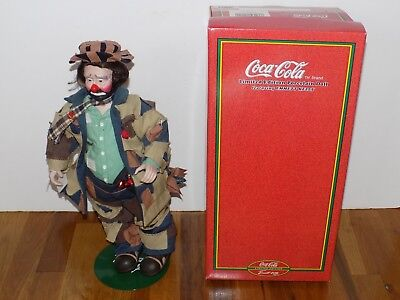 "Coca-Cola Limited Edition Emmett Kelly 17"" Porcelain Doll 100th Anniversary"