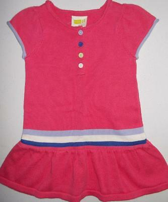 NWT Crazy 8 Girls Size 4T or 5T Braided Rope Strap Button Back Stripe Dress NEW