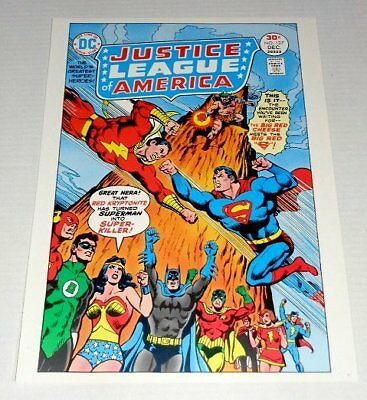 1978 JLA 137 Superman vs Shazam POSTER: Batman/Wonder Woman/Green Lantern/Flash