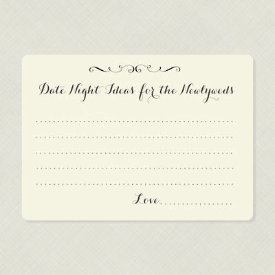50 wedding advice cards bridal shower game cards date night idea cards