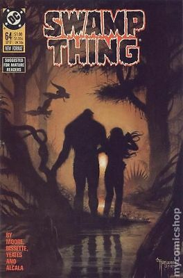 Swamp Thing (2nd Series) #64 1987 FN Stock Image