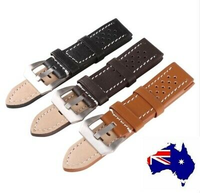 Top Quality Heavy Duty Sports Style Genuine Leather Panerai Style Watch Band