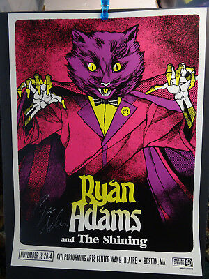 2014 Ryan Adams Boston Wang Theatre Concert Poster #29/145 November 18 Signed