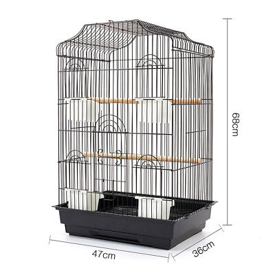 Medium 68CM Bird Cage Parrot Canary Aviary Pet Stand Budgie Finch Perch AU Stock
