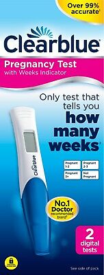 Clearblue Pregnancy Test - Digital - Weeks Indicator Over 99% Accurate - 2 Tests
