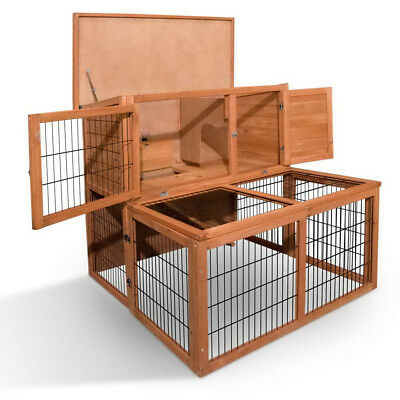 Deluxe Rabbit Hutch Chicken Coop Wooden House Guinea Pig Cage with Under-Run AUS