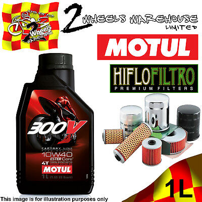 1L Motul 300V 10W40 Oil And Hiflo Hf128 Filter Fits Kawasaki Quad Sxs Atv Listed