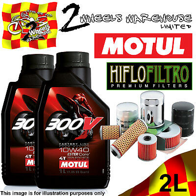 2L Motul 300V 10W40 Oil And Hiflo Hf128 Filter Fits Kawasaki Quad Sxs Atv Listed