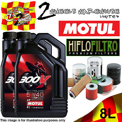 8L Motul 300V 5W40 Oil And Hiflo Hf128 Filter Fits Kawasaki Quad Sxs Atv Listed