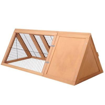 Triangle Rabbit Hutch Chicken Coop Guinea Pig Ferret Run Cage Hen Chook House AU