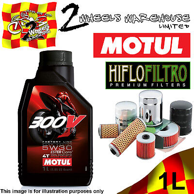 1L Motul 300V 5W30 Oil And Hiflo Hf128 Filter Fits Kawasaki Quad Sxs Atv Listed