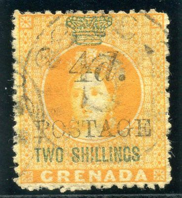 Grenada 1888 QV 4d on 2s orange & green very fine used. SG 42. Sc 32a.