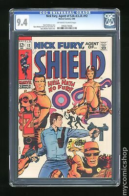 Nick Fury Agent of SHIELD (1st Series) #12 1969 CGC 9.4 0958274006