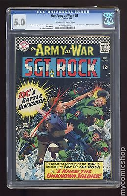 Our Army at War #168 1966 CGC 5.0 0261593010