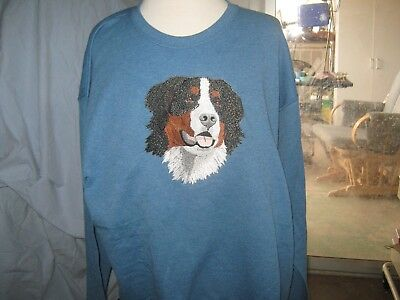 New Bernese Mountain Dog Embroidered Sweatshirt Add Name For Free