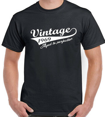 d7ff898b5 Vintage Year 1969 Mens Funny 50th Birthday T-Shirt 50 Year Old Gift Present  Top
