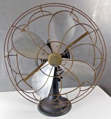 Vintage 1930's Delco Appliance Corp. Electric Oscillating Fan 3 Spd pedestal gm