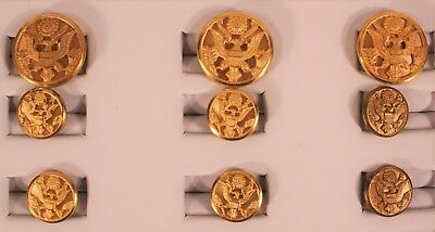 Waterbury Military Brass Eagle Button Set for Jacket/Blazer/Coat 3+6