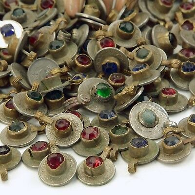 10 Jeweled SMALL COINS (standard unpolished) Tribal BellyDance Kuchi MIXED Color