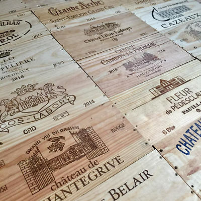 6 pack of FRENCH WOODEN WINE BOX END PANELS / PLAQUES  / FACEPLATES
