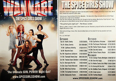 WANNABE THE SPICE GIRLS SHOW 2017 TOUR FLYERS x 3
