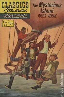 Classics Illustrated 034 Mysterious Island #9 1947 VG- 3.5 Stock Image Low Grade