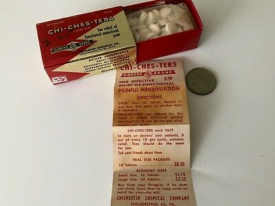 CHI-CHES-TERS  FOR MENSTRUAL PAIN Mint In Box FULL CONTENT