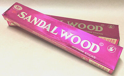 SANDALWOOD by BIC 2 x 15g Packs Premium Incense Sticks (approx. 20 sticks/pack)