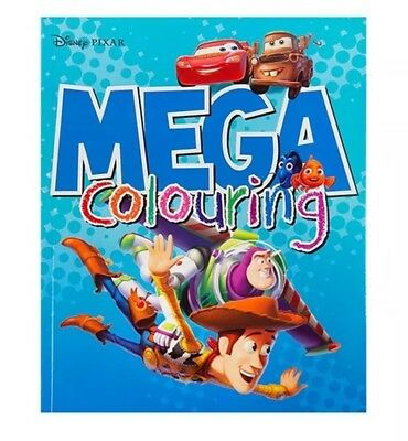 Licensed Disney Pixar Mega Colouring Book 80 Pages To Colour Kids Children Gift