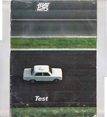 1969 FIAT 125 TESTING GROUND 24 Page Large Format Brochure