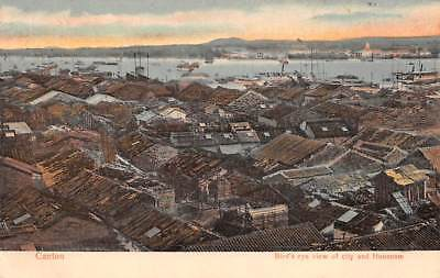 CANTON - GUANGZHOU, CHINA, TOWN & HONAN IS OVERVIEW, HK PICTORIAL CO PUB c 1902