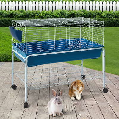 Large Bunny Home Rabbit Guinea Pig Cage Hutch Habitat with Stand 99X53X106CM AUS