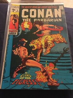 CONAN THE BARBARIAN #5 - Barry Smith art - Bronze Age 1971! Claws of the Tigress