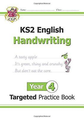 New KS2 English Targeted Practice Book: Handwriting - Year 4 by CGP Books | Pape
