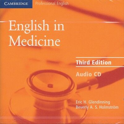 English In Medicine Audio Cd, Glendinning, Eric H., Holmstrom, Be. 9780521606684