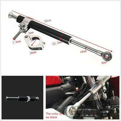 Universal 330mm Aluminum Motorcycles ATV Steering Damper 6-Way Adjust Stabilizer