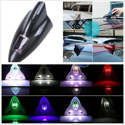 Universal Car SUV Solar Shark Fin Antenna Signal Radio RGB LED& Wireless Control