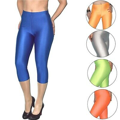 CAPRI Spandex LEGGINS in 6 Farben* S o. M * 80er * Fasching * Leggings stretchig