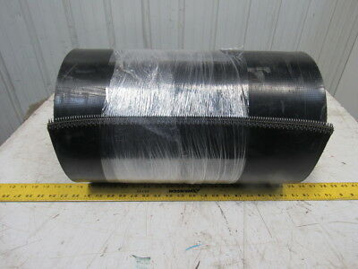 "2-Ply Black PVC Smooth Top Interwoven Fabric Conveyor Belt 45' x 18"" x .135"""