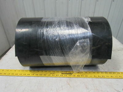 "2-Ply Black PVC Smooth Top Interwoven Fabric Conveyor Belt 48' x 19"" x .135"""