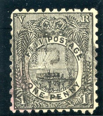 Fiji 1893 QV 1d black very fine used. SG 82. Sc 54.