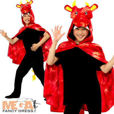 Dragon Cape Kids Fancy Dress Halloween Animal Childrens Kids Costume Cloak New