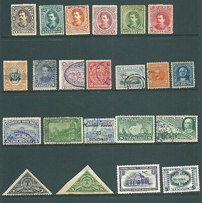 COSTA RICA useful stamp collection from 19th Century onwards