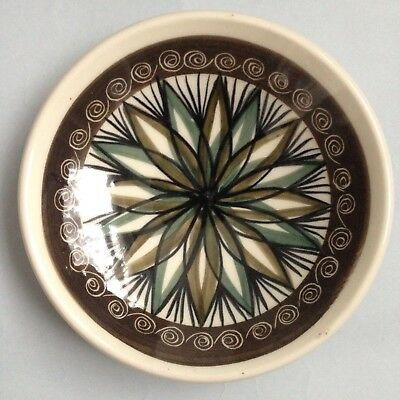 Vintage Jersey Pottery Dish c.1960s - Hand Painted Studio Pottery