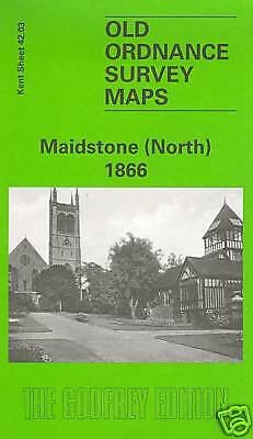 Old Ordnance Survey Map Maidstone North 1866