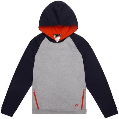 Boys Youth Hooded Pullover Gray Black Size Large 14 16 HEAD Sweatshirt Hoodie