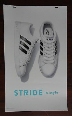 Adidas Poster Advertising Large 24 x 40 Thick Poster Board Signage