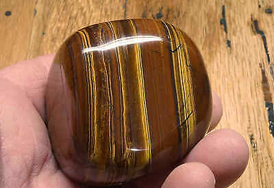 Tiger Iron Massage Therapy Stone 10.4 Oz Polished Tigers-Eye Iron Stripes 07745